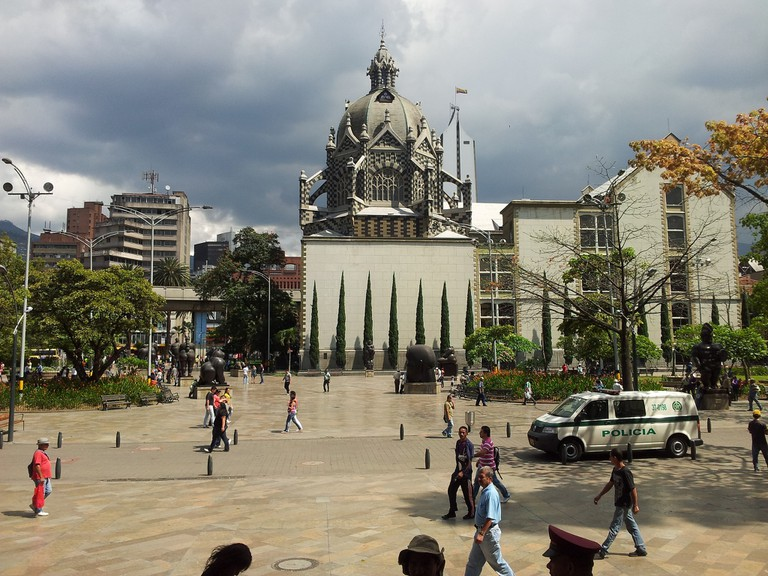The Botero Park in El Centro neighbourhood