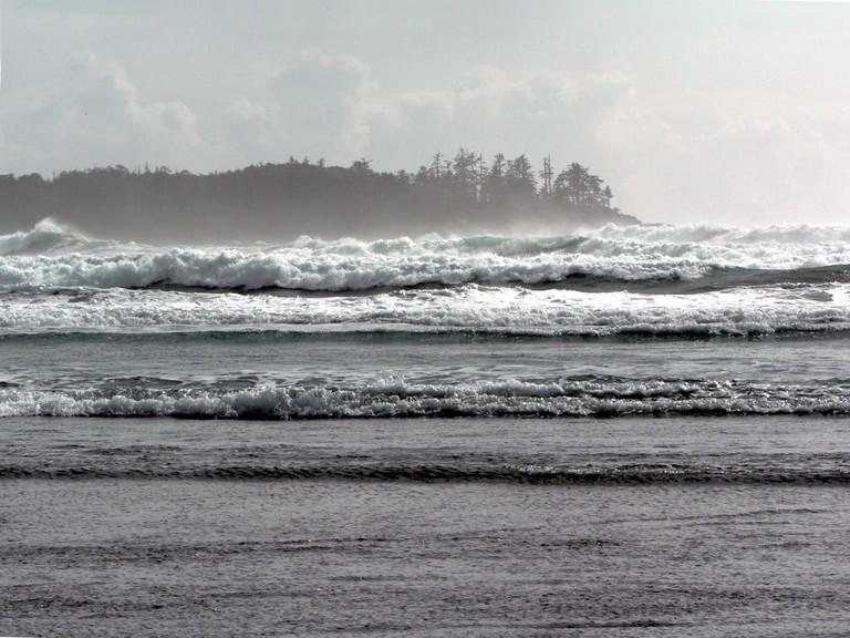Tofino's stormy waves