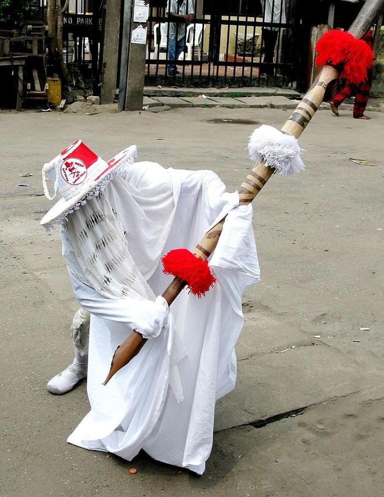 Crouching Eyo Bajulaiye Ineso Masquerade