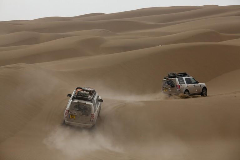 Taklamakan Desert Near Turpan