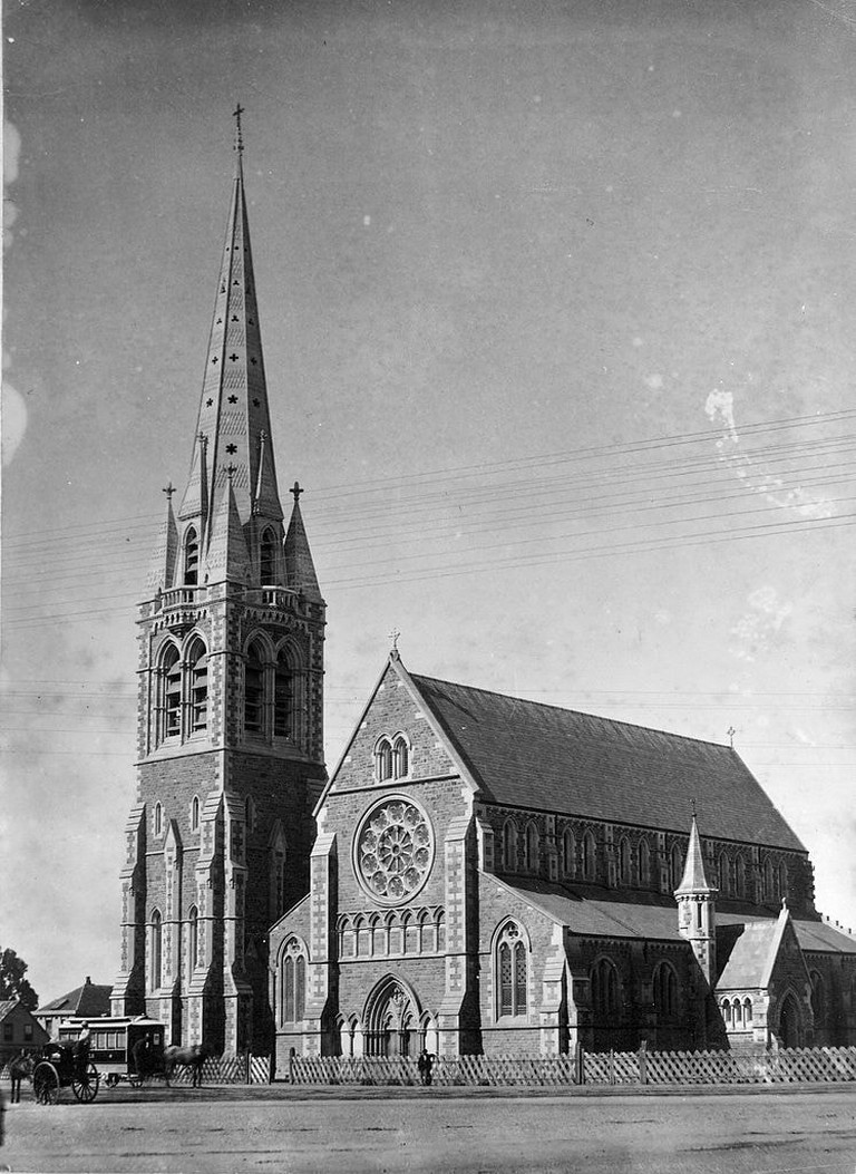 Christ Church Cathedral in Cathedral Square, Christchurch; 1880s