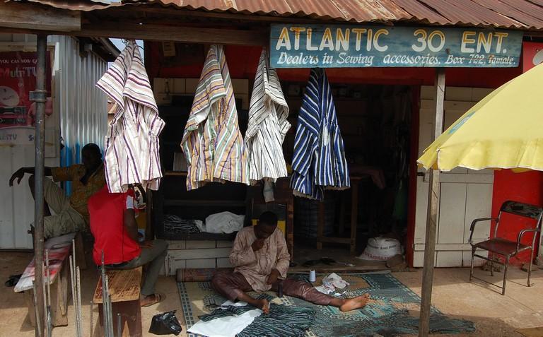 Ghanaian smock maker