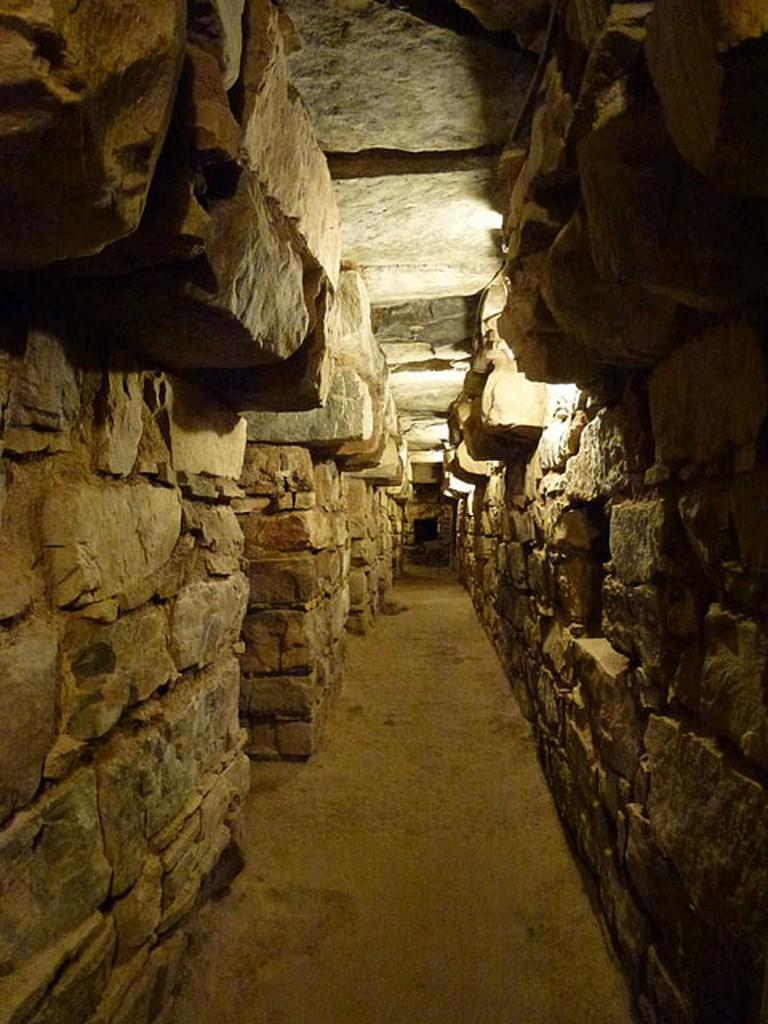 Underneath the ruins at Chavin Huantar
