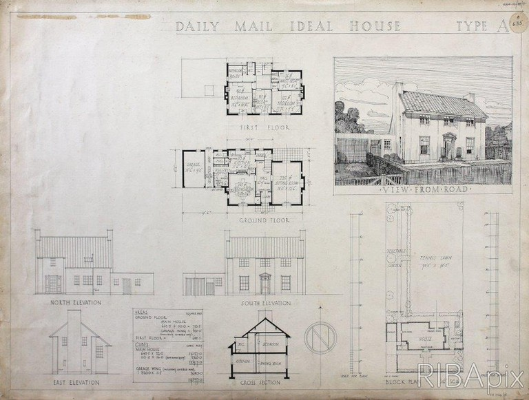 Competition design for the Daily Mail Ideal House, Donald Hanks McMorran, 1927