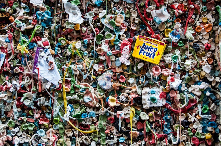 A section of the Seattle Gum Wall