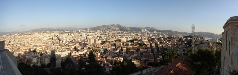 The skyline of Marseille