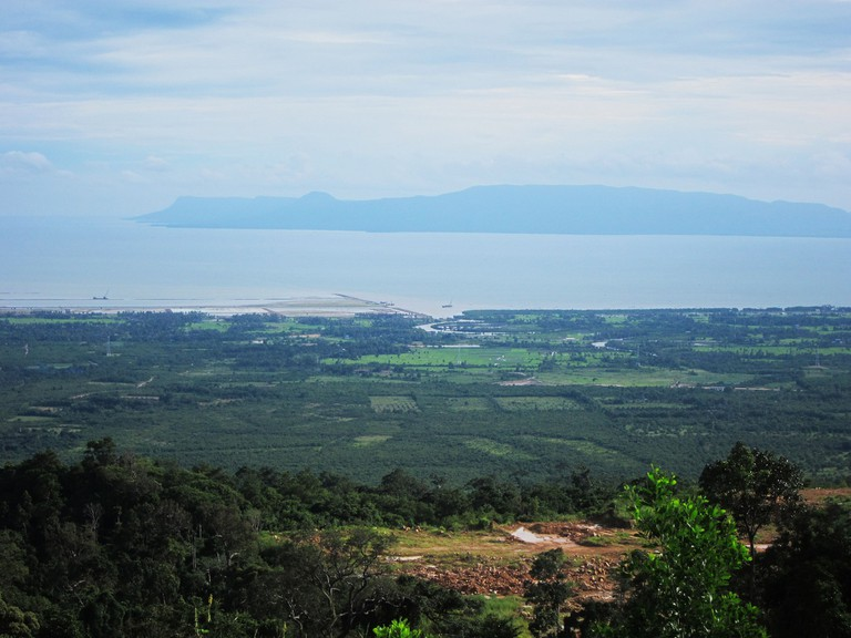 A view from Bokor Mountain in Kampot, Cambodia