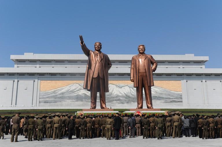 The Kim statues, Pyongyang