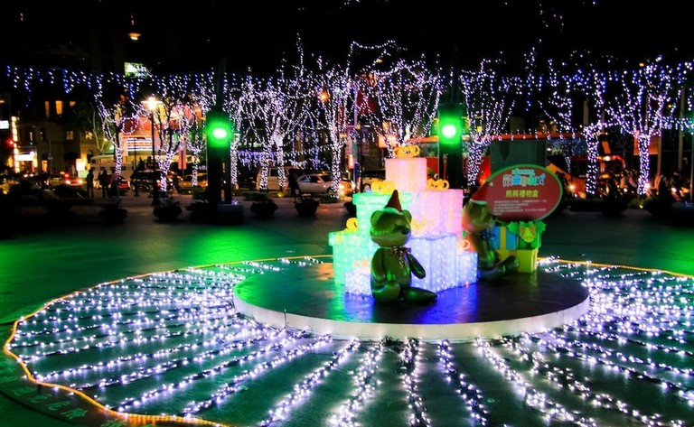 Christmas lights in Banqiao