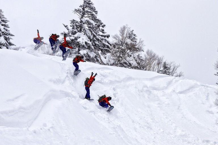 Multi-exposure shot from Sapporo-Kokusai Resort in Hokkaido