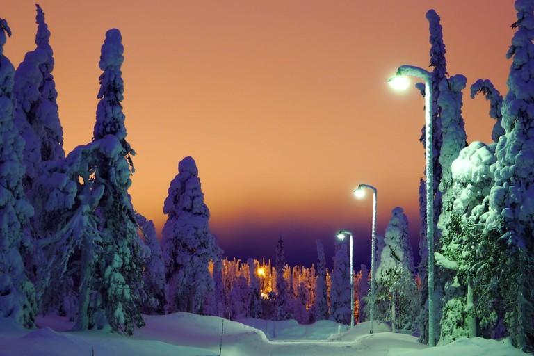 Sunset at Ruka ski resort / Timo Newton-Syms / Flickr