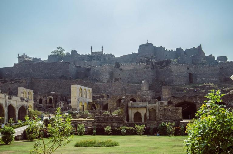 The ruins of Golkonda fort