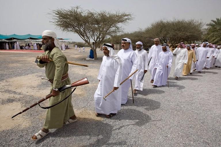 Emirati men at a wedding