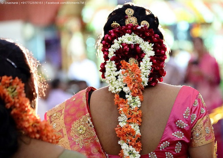 Traditional South Indian hairstyle