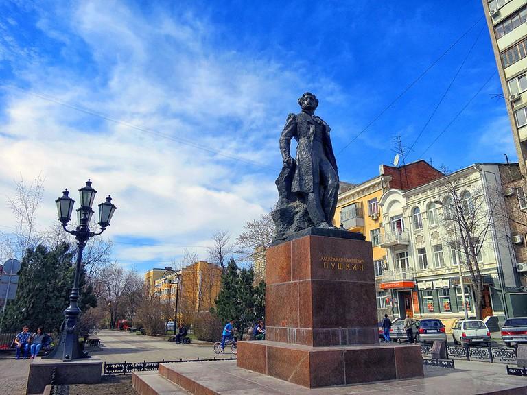 Statue of Alexander Pushkin in Rostov-on-Don
