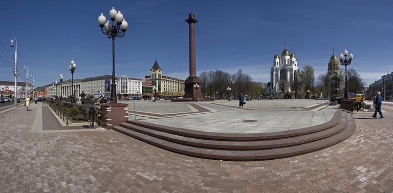 Victory Square in Kaliningrad, Russia