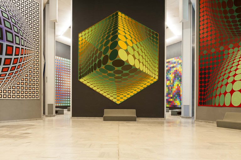 People love the artwork at the Vasarely Foundation