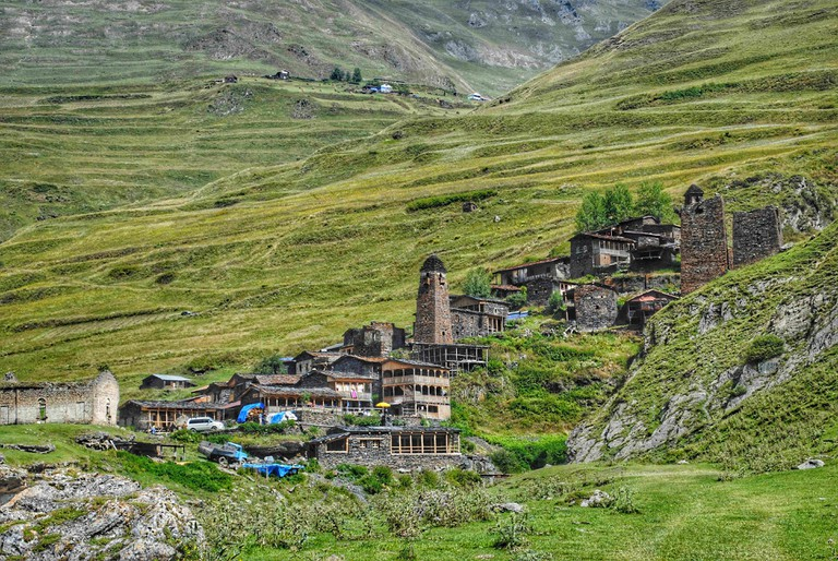 Village Dartlo in Tusheti