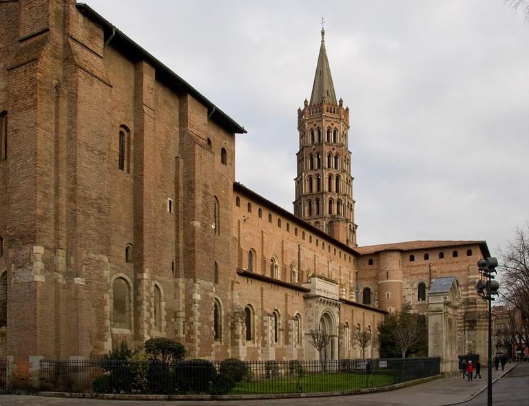 Basilica in the Saint Sernin neighborhood  