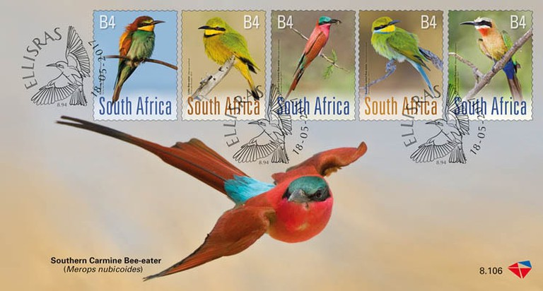 Bee-Eaters of South Africa stamp collection 2017