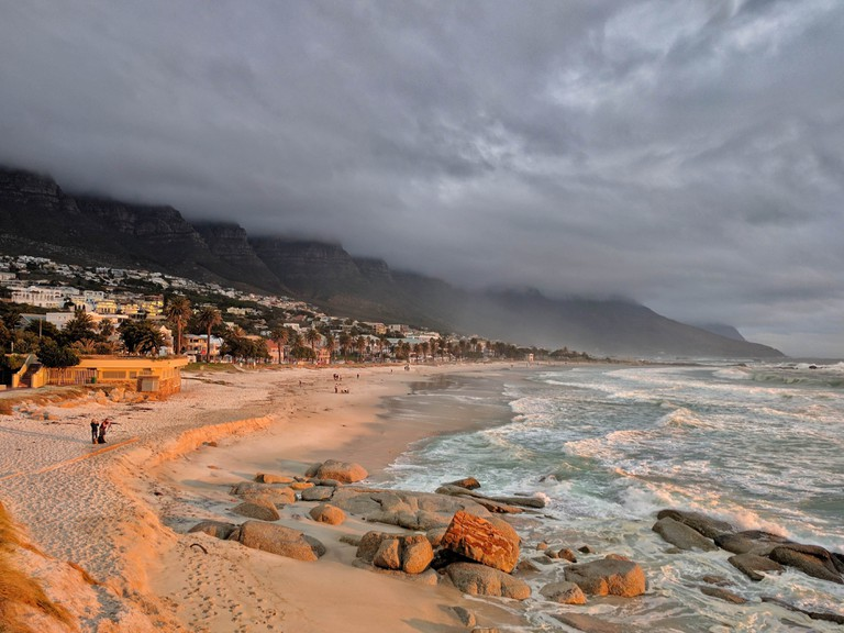 Beaches like Camps Bay are all but abandoned during winter