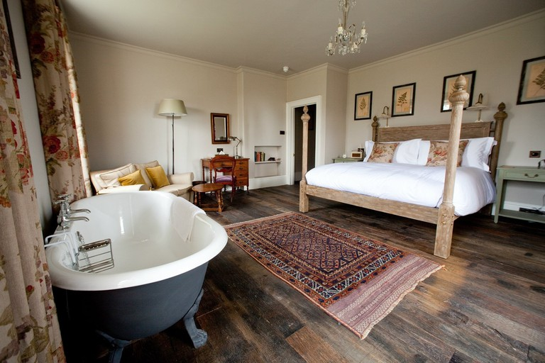 Big Comfy Luxe Room | Courtesy of THE PIG, near Bath