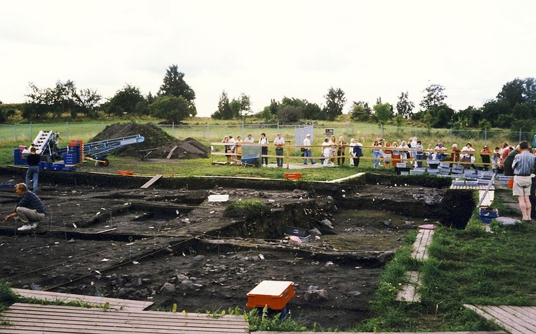 An earlier archeological dig in Birka, Sweden