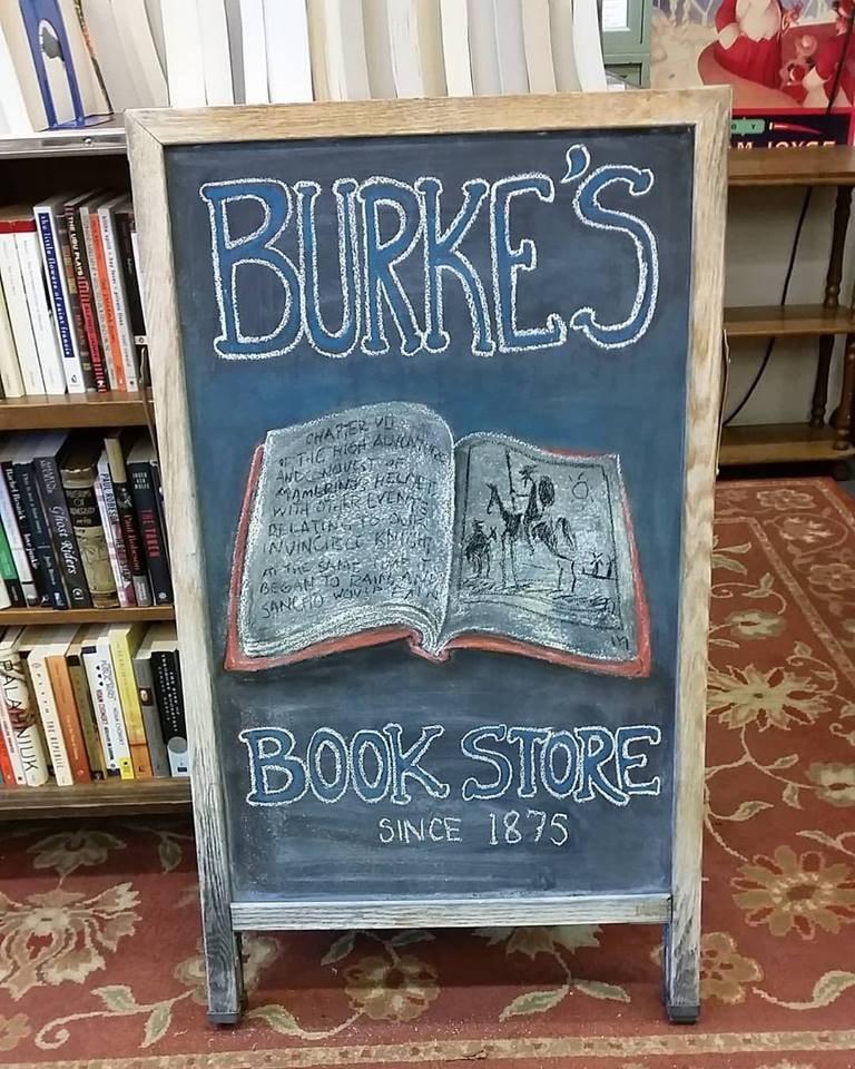 Burke's Bookstore / (c) @burkesbookstore / Facebook