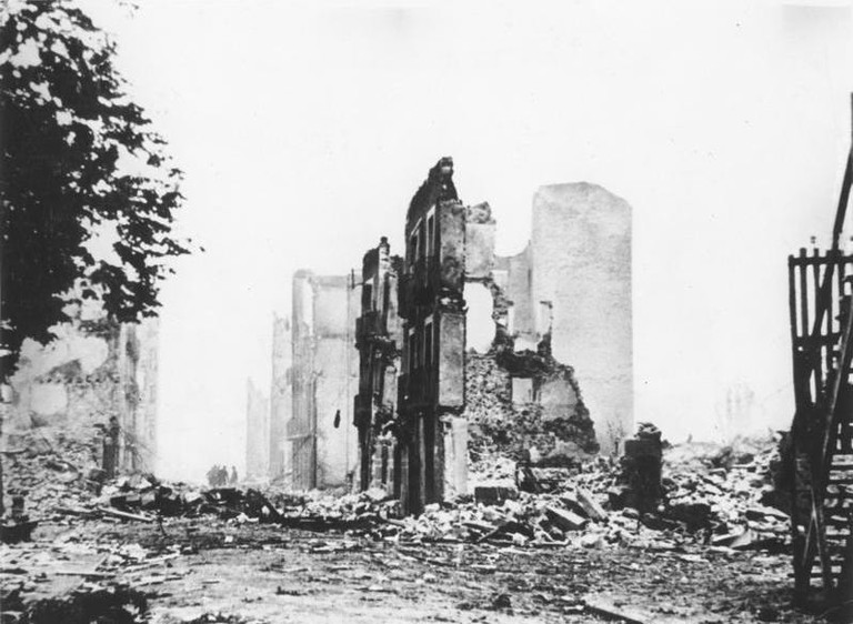 Guernica after being bombed