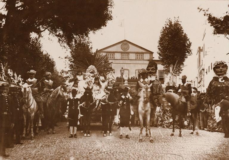 Las Palmas Carnival parade, 1891