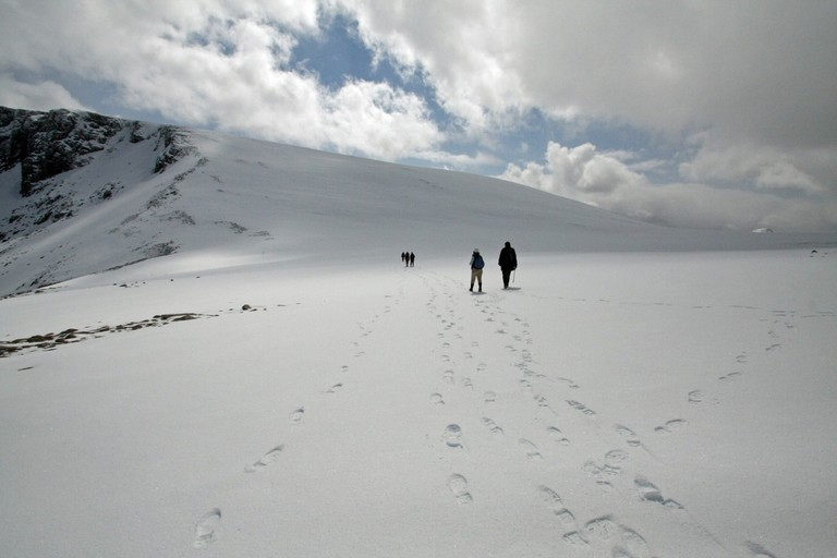 Winter hiking in the Cairngorms
