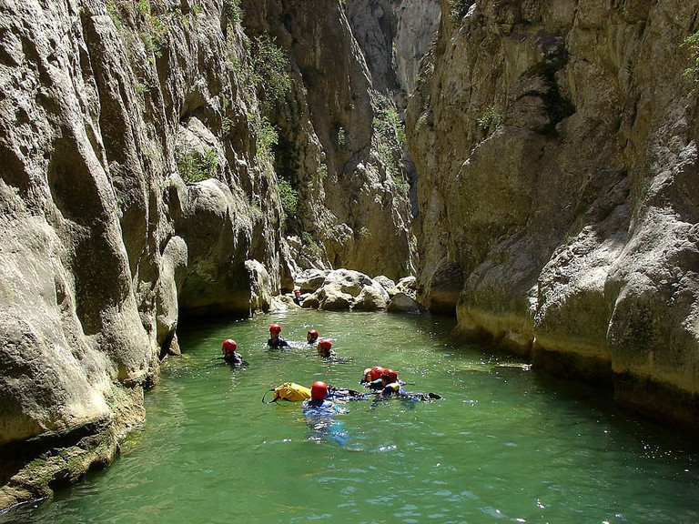 Canyoning in the Gorges de Galamus| Vilallongue |WikiCommons