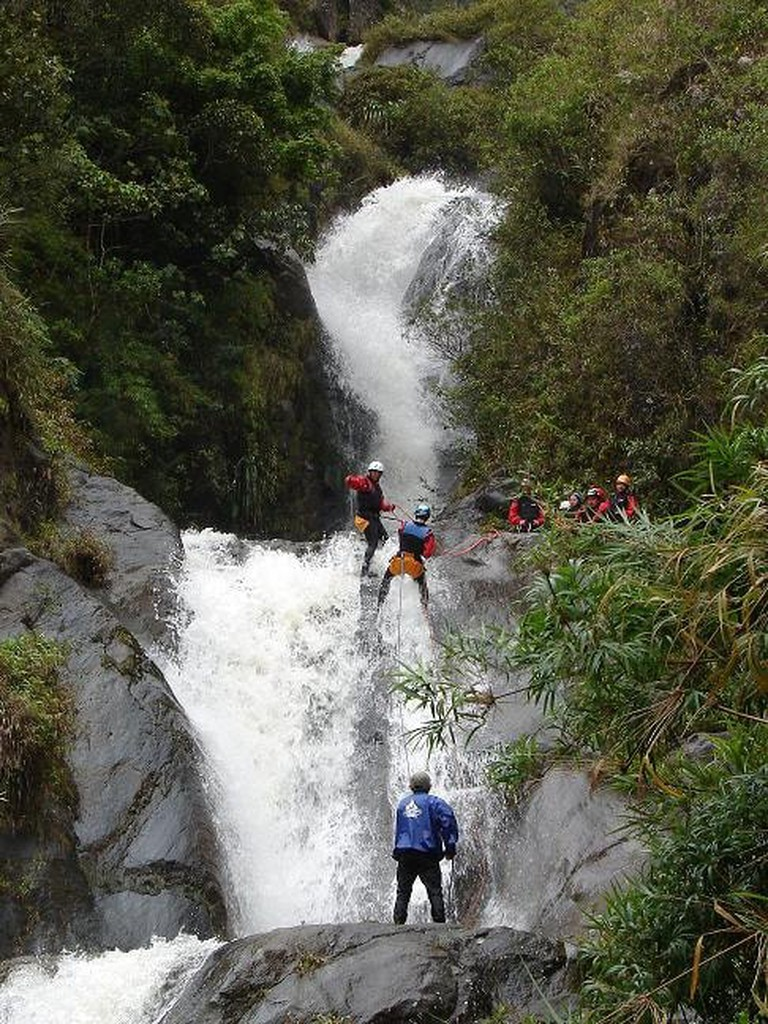 Canyoning in Baños de Agua Santa, Ecuador