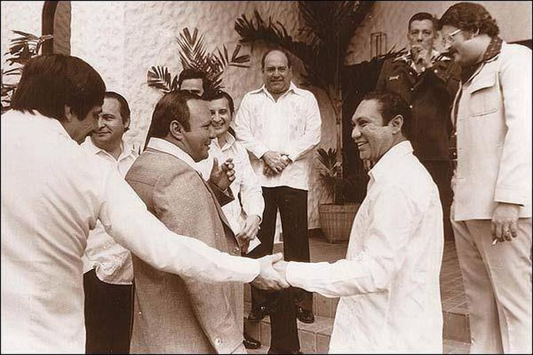 Omar Torrijos, Manuel Antonio Noriega and Ernesto Perez Balladares in the 1970's