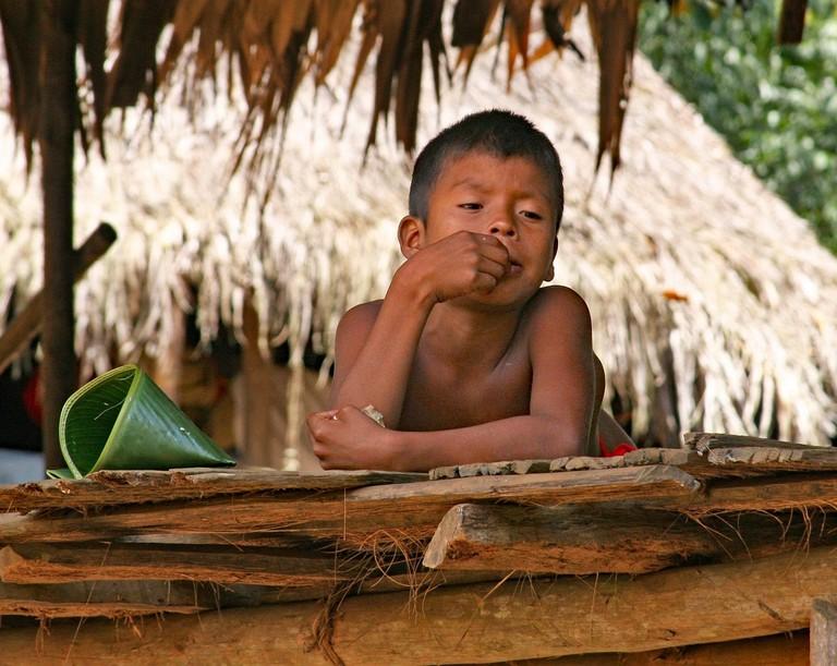 Emberá child, Panama