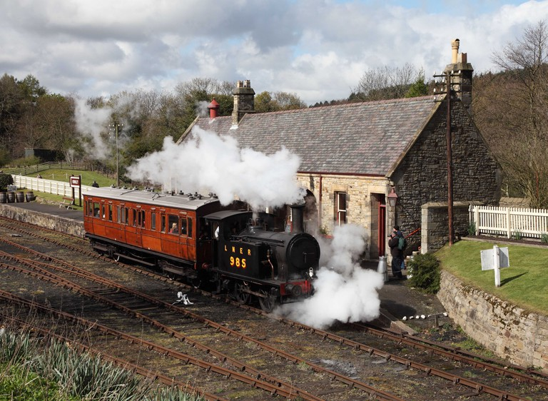 Ex LNER Y& steam locomotive at Rowley station North of England Open Air Museum Beamish NE England UK