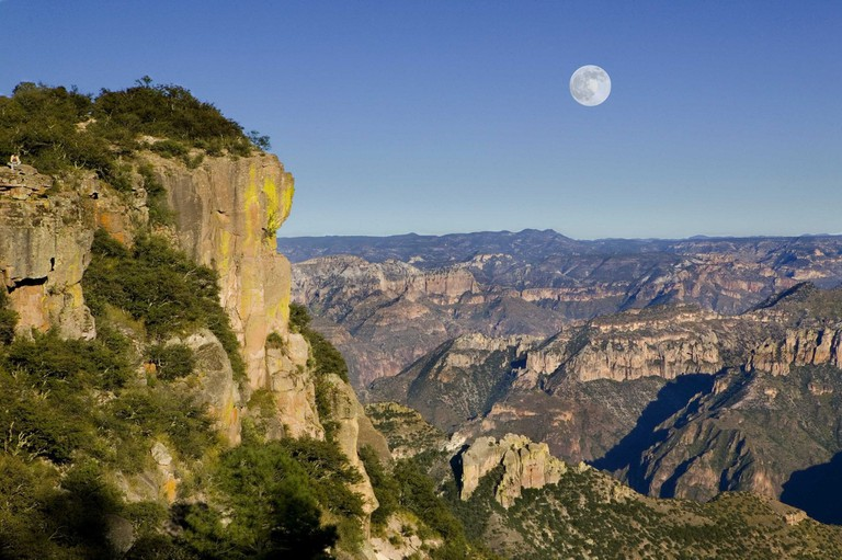 Rising moon over Copper Canyon