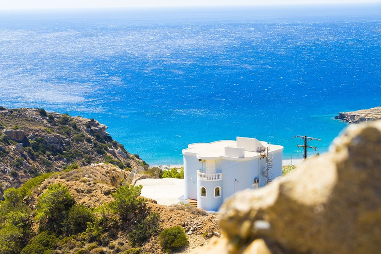 The notorious turquoise waters of Crete
