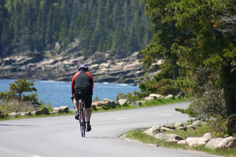 Siteseeing on a bicycle in Acadia National Park