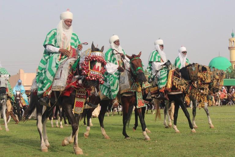 Horse Riders at the Kano Durbar