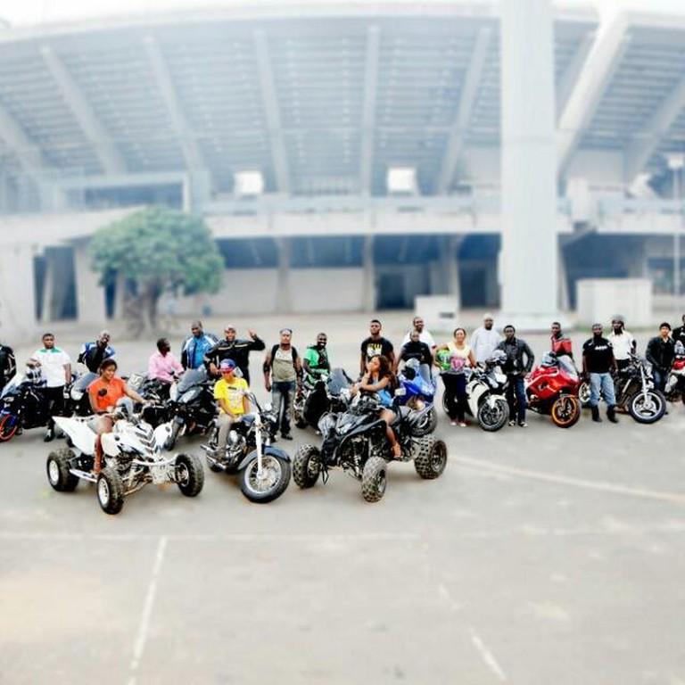 A biking club in Lagos