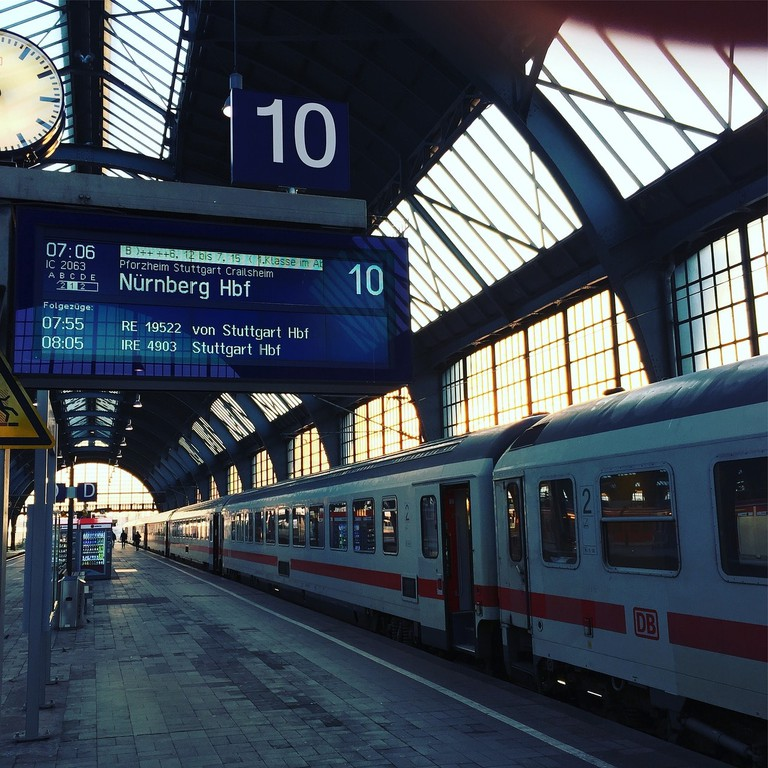 IC Train en route to Nuremberg