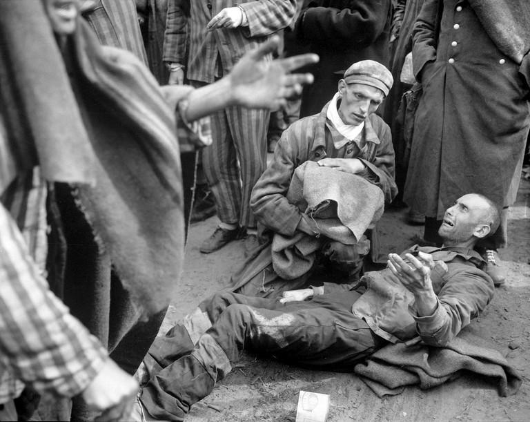 At the German concentration camp at Wobbelin