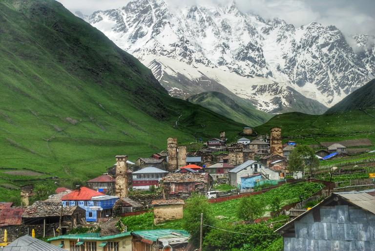 Village Ushguli in Svaneti