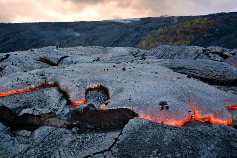Lava from Kīlauea Volcano