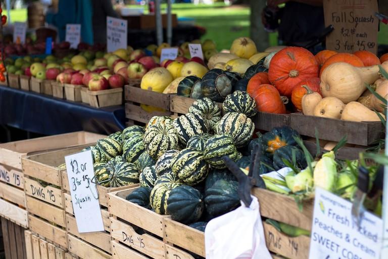 Farmers' Market in autumn