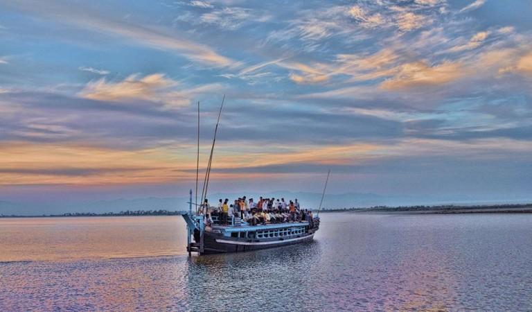 Ferry ride to Majuli Island