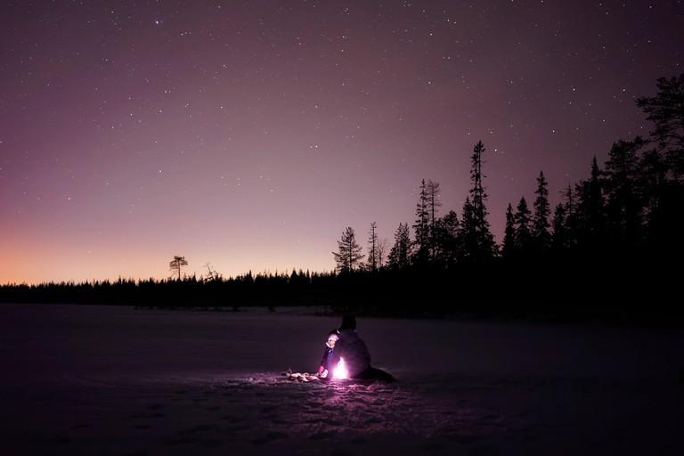 Winter campfire / 12019 / Pixabay