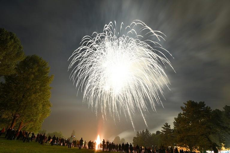 Fireworks in Basel