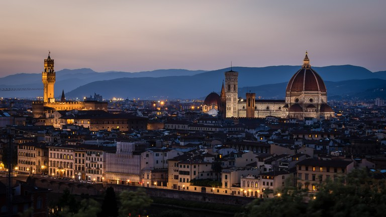 Florence after sunset.